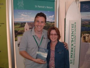 Dir of Saint Patrick Centre Tim Campbell with Author Cindy Thomson