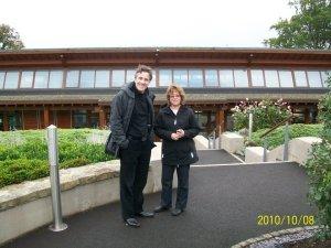 Tim Campbell, Dir of Saint Patrick Centre with Author Cindy Thomson